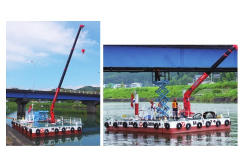 Floating Platform for Bridge Inspection and Repair